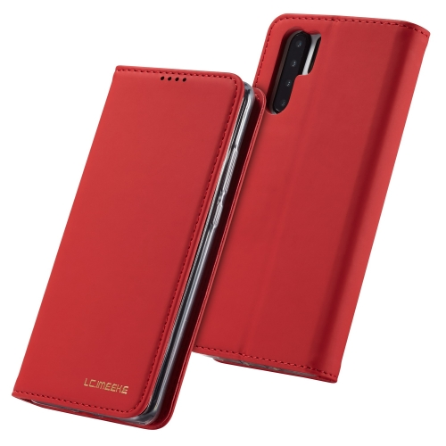 For Huawei P30 Pro LC.IMEEKE LC-002 Series Skin Hand Feeling PU + TPU Horizontal Flip Leather Case with Holder & Card Slot & Wallet(Red)