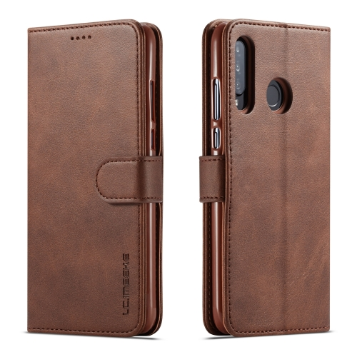 For Huawei P30 Lite / Nova 4e LC.IMEEKE Calf Texture Horizontal Flip Leather Case, with Holder & Card Slots & Wallet(Brown)