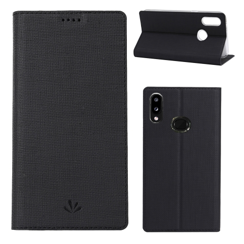 For Galaxy A10s ViLi Shockproof TPU + PU Horizontal Flip Protective Case with Card Slot & Holder(Black) фото