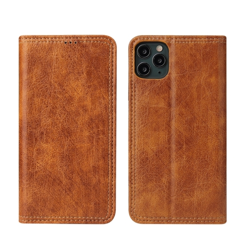 For iPhone 11 Retro Tree Bark Texture PU Magnetic Horizontal Flip Leather Case with Holder & Card Slots & Wallet(Khaki)