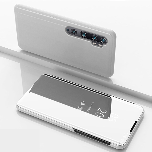 For Xiaomi Mi Note10 / Note 10 Pro Plated Mirror Horizontal Flip Leather Case with Holder(Silver) фото