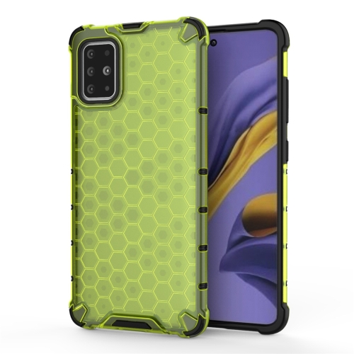 For Galaxy A51 Shockproof Honeycomb PC + TPU Protective Case(Green) фото