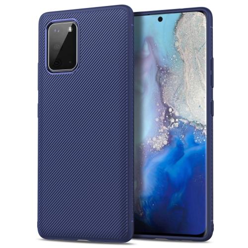 For Galaxy S20 Lenuo Leshen Series Stripe Texture TPU Case(Dark Blue) фото