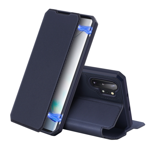 For Galaxy Note 10+ DUX DUCIS Skin X Series PU + TPU Horizontal Flip Leather Case with Holder & Card Slots(Blue)