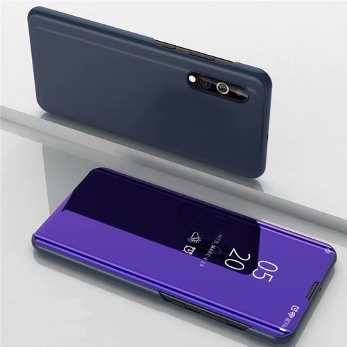 For Xiaomi Mi 9 Lite Electroplating Mirror Horizontal Flip Leather Case, with Holder(Purple Blue) фото