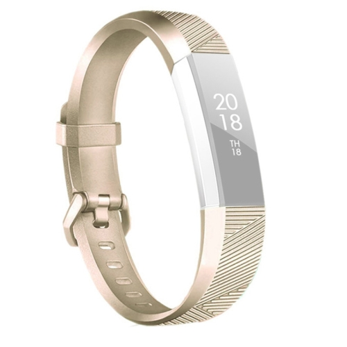 For Fitbit Alta / Alta HR Metal-color Watch Strap Belt Buckle Watchband(Champagne Gold) фото