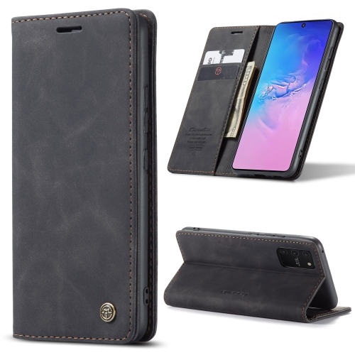 For Galaxy A91 / S10 Lite CaseMe Multifunctional Horizontal Flip Leather Case, with Card Slot & Holder & Wallet(Black) фото