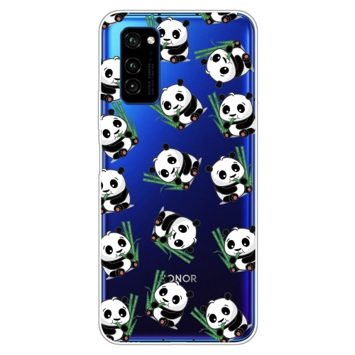 For Huawei Honor V30 Painted TPU Protective Case(Panda)