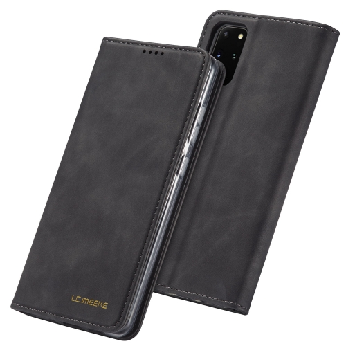 For Galaxy S20 LC.IMEEKE LC-002 Series Skin Hand Feeling PU + TPU Horizontal Flip Leather Case with Holder & Card Slot & Wallet(Black)