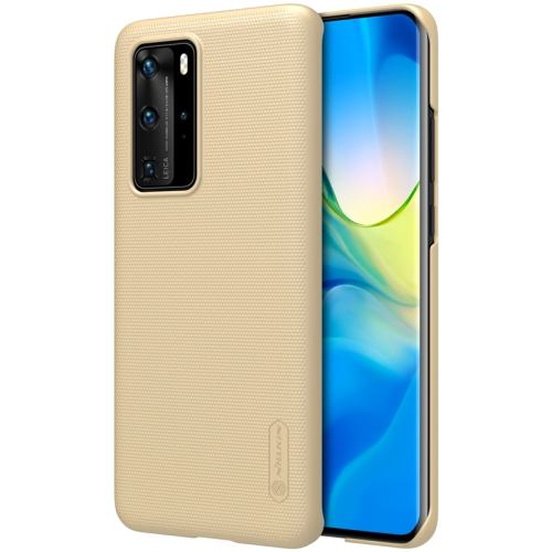 For Huawei P40 Pro NILLKIN Frosted Concave-convex Texture PC Case(Gold)