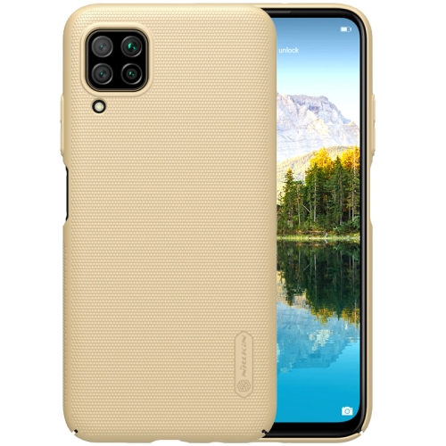 For Huawei P40 lite / nova 7i/ 6 SE NILLKIN Frosted Concave-convex Texture PC Case(Gold)