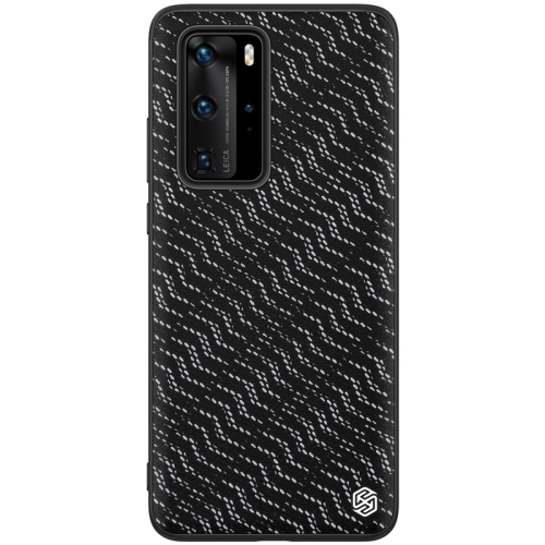 For Huawei P40 Pro NILLKIN Glorious Series TPU + PC 3D Geometric Texture Reflective Mobile Phone Protective Case(Silver Light) фото