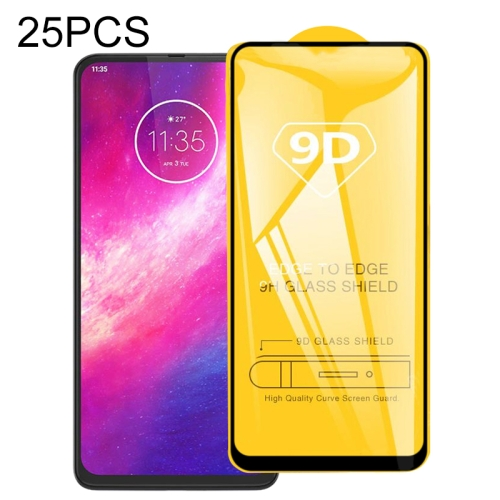 For Motorola One Hyper 25 PCS 9D Full Glue Full Screen Tempered Glass Film фото