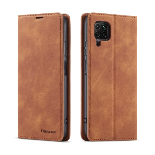 For Huawei P40 Lite / nova 6 SE Forwenw Dream Series Oil Edge Strong Magnetism Horizontal Flip Leather Case with Holder & Card Slots & Wallet & Photo Frame(Brown)