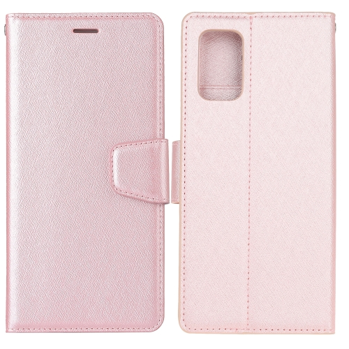 For Galaxy S20 Ultra Silk Texture Horizontal Flip Leather Case with Holder & Card Slots & Wallet & Photo Frame(Rose Gold) фото