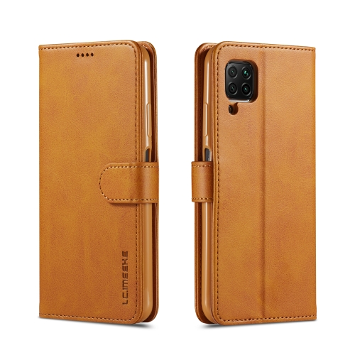 For Huawei P40 Lite / nova 6 SE LC.IMEEKE Calf Texture Horizontal Flip Leather Case, with Holder & Card Slots & Wallet & Photo Frame(Brown)