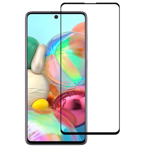 For Galaxy A71 9H Surface Hardness 2.5D Full Glue Full Screen Tempered Glass Film  - buy with discount