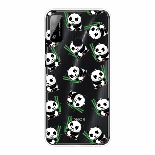 For Huawei Honor Play 4T Shockproof Painted Transparent TPU Protective Case(Panda)
