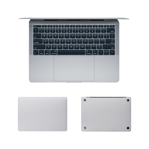 For MacBook Air 13.3 inch A2179 (2020) 4 in 1 Upper Cover Film + Bottom Cover Film + Full-support Film + Touchpad Film Laptop Body Protective Film Sticker(Apple Silver)