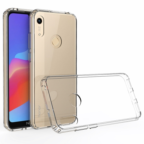 For Huawei Honor 8A Scratchproof TPU + Acrylic Protective Case(Transparent)