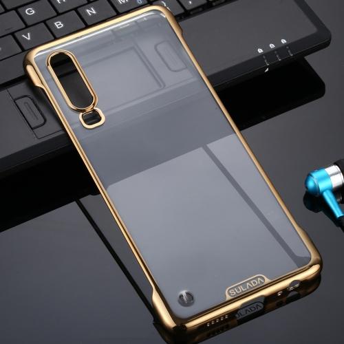 For Huawei P30 SULADA Borderless Drop-proof Vacuum Plating PC Case(Gold)