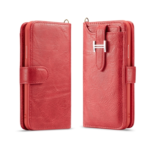 For iPhone X Elegant Series H-type Buckle Horizontal Flip Leather Case with Card Slots & Wallet & Photo Frame(Red)