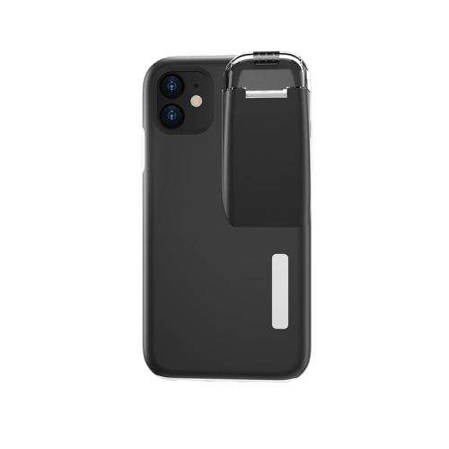 For iPhone 11 TPU+PC Protective Case with Charging Compartment, Can Be Placed in AirPods 1 / 2(White + Black)