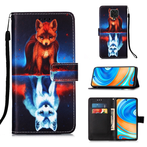 For Xiaomi Redmi Note 9S / Note 9 Pro Painting Horizontal Flip Leather Case with Holder & Card Slot & Wallet & Lanyard(Fox)