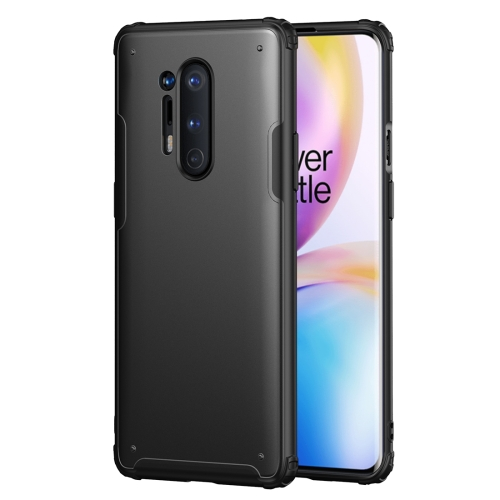 For OnePlus 8 Pro Solid Color Four-corner Shockproof TPU + PC Protective Case(Black) фото