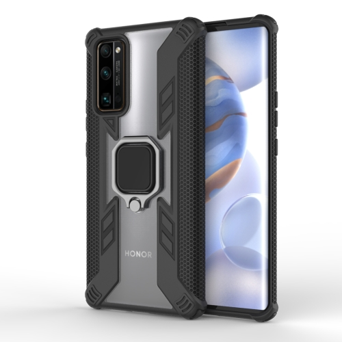 For Huawei Honor 30 Pro PC + TPU Anti-fall Protective Case with Invisible Ring Holder(Black)