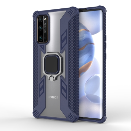 For Huawei Honor 30 Pro PC + TPU Anti-fall Protective Case with Invisible Ring Holder(Blue)