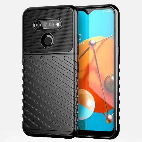 For LG K51 Thunderbolt Shockproof TPU Protective Soft Case(Black)