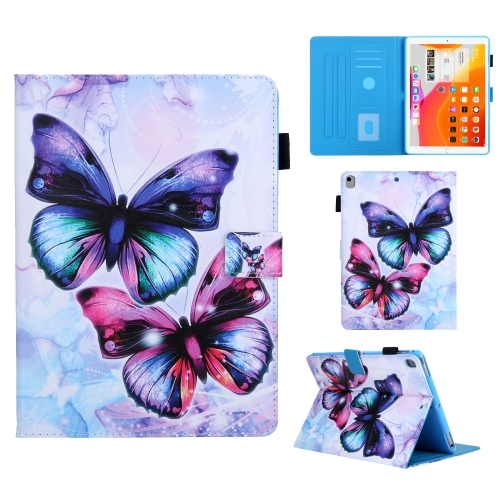 For iPad Pro 10.5 Colored Drawing Pattern Horizontal Flip Leather Case with Holder & Card Slots & Anti-skid Strip & Wake-up / Sleep Sunction(Butterfly)