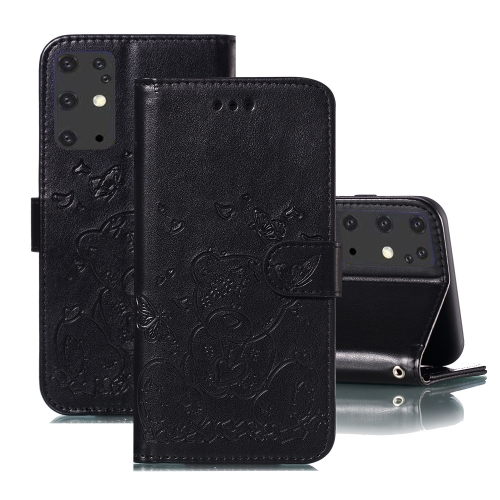 For Samsung Galaxy S20+ Embossed Butterfly Love Bear Pattern PU + TPU Horizontal Flip Leather Case with Holder & Card Slots & Wallet & Photo Frame(Black)