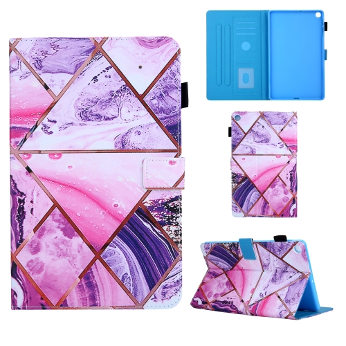 For Samsung Galaxy Tab A10.1 (2019) T510 Colored Drawing Pattern Horizontal Flip Leather Case with Holder & Card Slots & Anti-skid Strip(Red)