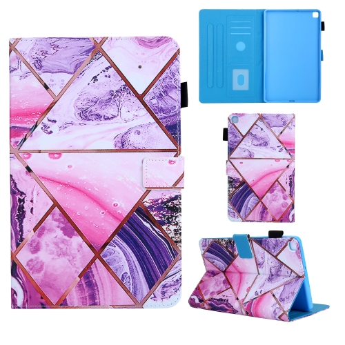 For Samsung Galaxy Tab A8.0 (2019) T290 Colored Drawing Pattern Horizontal Flip Leather Case with Holder & Card Slots & Anti-skid Strip(Red)