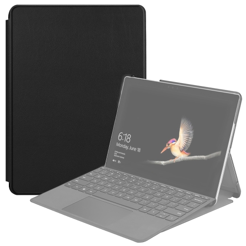 For Microsoft Surface Go 2 / Surface Go Voltage Elastic Texture Horizontal Flip Leather Case with Holder(Black)