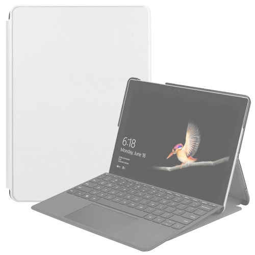 For Microsoft Surface Go 2 / Surface Go Voltage Elastic Texture Horizontal Flip Leather Case with Holder(White)