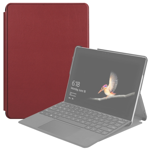 For Microsoft Surface Go 2 / Surface Go Voltage Elastic Texture Horizontal Flip Leather Case with Holder(Wine Red)