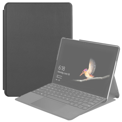 For Microsoft Surface Go 2 / Surface Go Voltage Elastic Texture Horizontal Flip Leather Case with Holder(Grey)