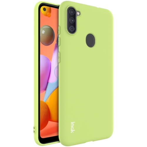 For Samsung Galaxy A11 Series Shockproof Frosted TPU Protective Case(Green)