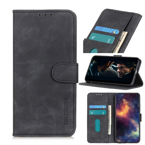 For Honor 9X Lite Retro Texture PU + TPU Horizontal Flip Leather Case with Holder & Card Slots & Wallet(Black)