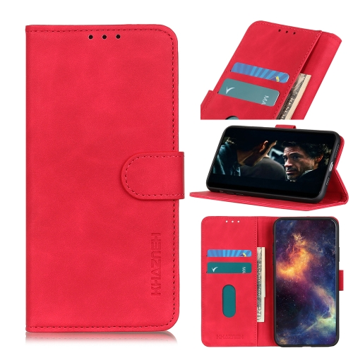 For Honor 9X Lite Retro Texture PU + TPU Horizontal Flip Leather Case with Holder & Card Slots & Wallet(Red)