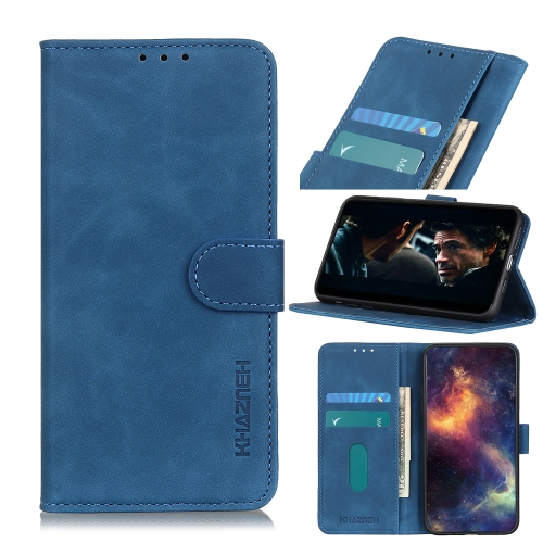 For Honor 9X Lite  Retro Texture PU + TPU Horizontal Flip Leather Case with Holder & Card Slots & Wallet(Blue)