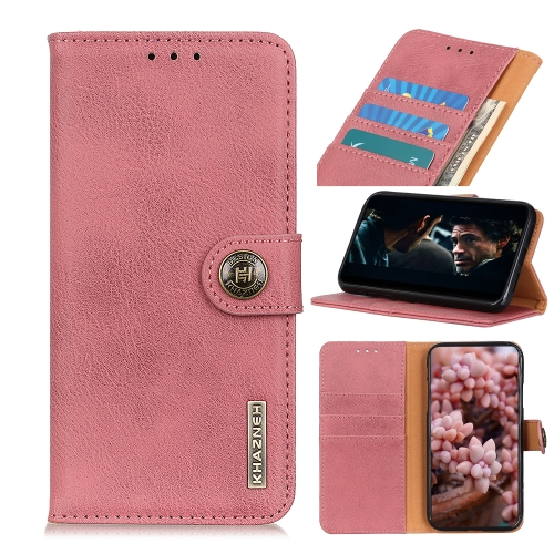 For Xiaomi Redmi 10X 5G / 10X Pro 5G Cowhide Texture Horizontal Flip Leather Case with Holder & Card Slots & Wallet(Pink)