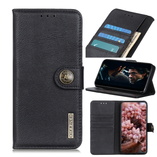 For Honor 9X Lite Cowhide Texture Horizontal Flip Leather Case with Holder & Card Slots & Wallet(Black)