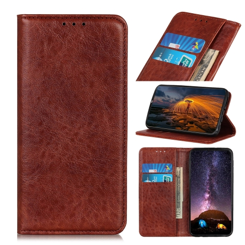 For Honor 9X Lite Magnetic Crazy Horse Texture Horizontal Flip Leather Case with Holder & Card Slots & Wallet(Brown)