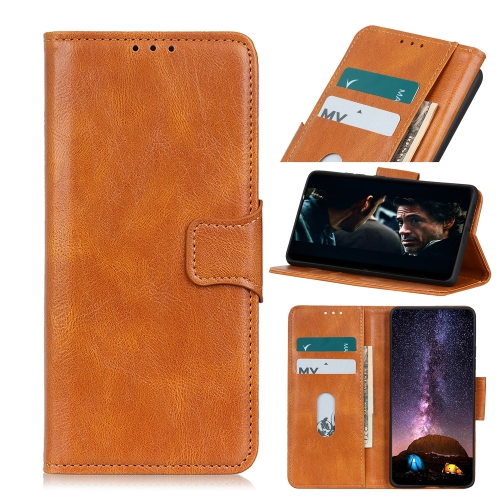 For iPhone 12 5.4 inch Mirren Crazy Horse Texture Horizontal Flip Leather Case with Holder & Card Slots & Wallet(Brown)