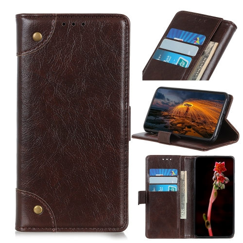 For Honor 9X Lite   Copper Buckle Nappa Texture Horizontal Flip Leather Case with Holder & Card Slots & Wallet(Coffee)