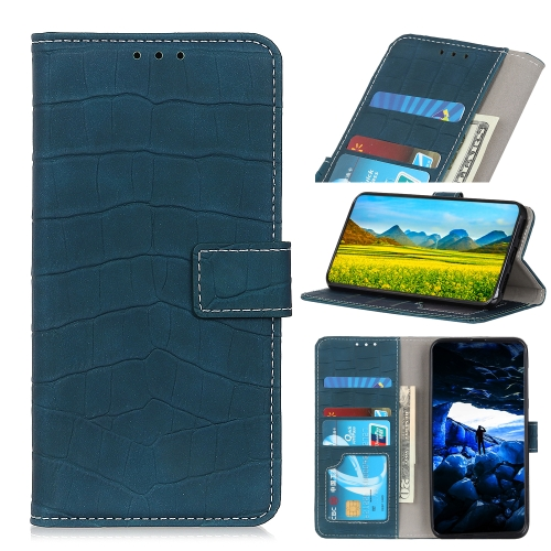 For IPhone 12 (5.4)   Crocodile Texture Horizontal Flip Leather Case with Holder & Card Slots & Wallet(Dark Green)